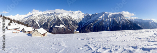 Mountain panorama of the ski area in the Lepontine Alps #357935904