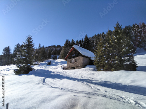 Mountain panorama of the ski area in the Lepontine Alps #357935932