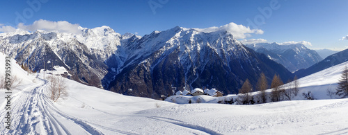 Mountain panorama of the ski area in the Lepontine Alps #357935993