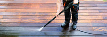 Power Washing - Man Cleaning T...