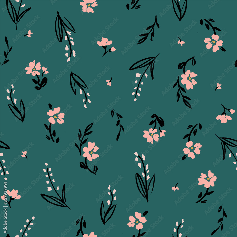 vector retro seamless floral pattern