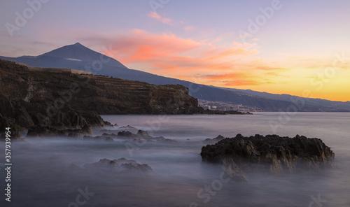 Atardecer en Tenerife Canvas Print