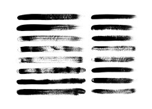 Vector Grungy Paint Brush Stro...