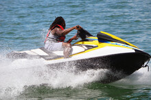 Jet Ski Action Closeup