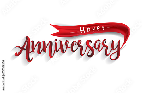 Happy Anniversary lettering text banner Canvas-taulu