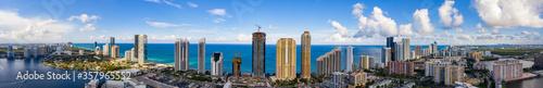 Aerial Sunny Isles Beach Miami Dade Florida panorama highrise beachfront archite Wallpaper Mural