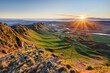 canvas print picture - Morning view from Te Mata Peak, Hawke's Bay, New Zealand