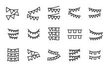 Simple Set Of Garland Icons In...