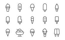 Simple Set Of Ice Cream Icons ...