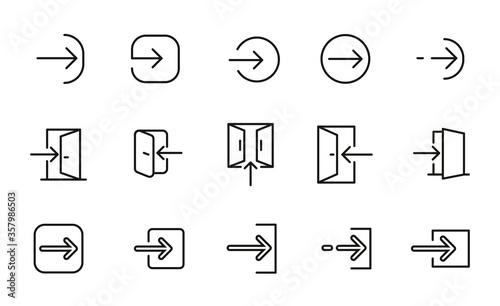 Obraz Login line icons set. - fototapety do salonu