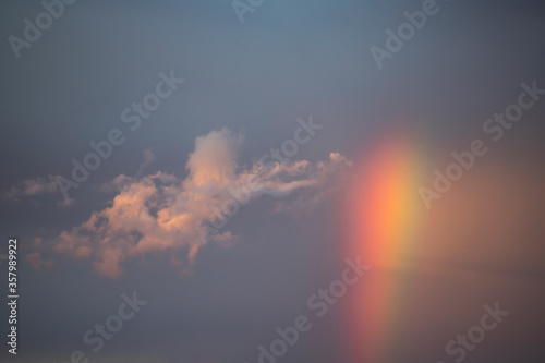 Fototapety, obrazy: Dramatic sunset sky with rainbow.