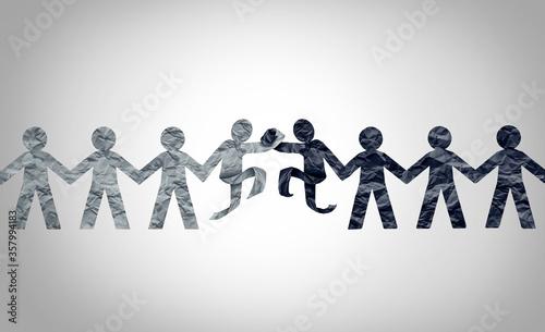 Fotografie, Tablou Race Relations Concept