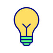 Bulb Line Style vector icon which can easily modify or edit