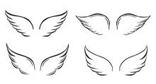 Angel Wings Vector Hand Drawn ...