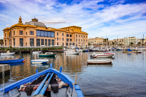 Margherita Theatre. Panoramic view of Bari. Puglia, Italy. Canvas Print