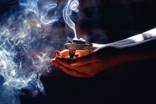 Incense In A Woman Hand, Incen...