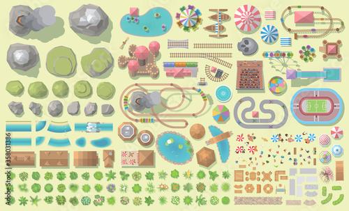 Canvas Print Set of landscape elements