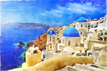 Greece. Iconic Santorini - Vie...