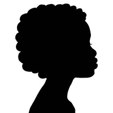 Vector  Silhouette Of Black Wo...