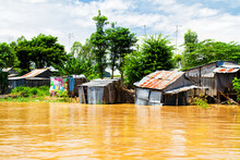 Destroyed Houses In The Mekong...