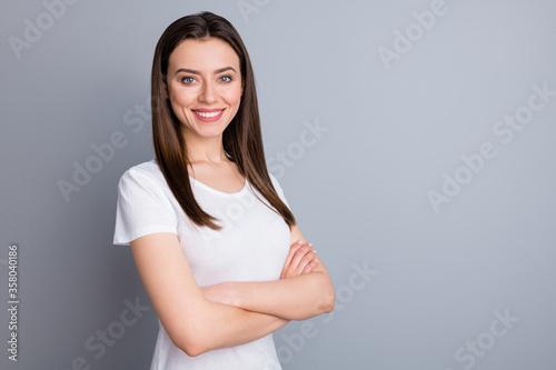 Cuadros en Lienzo Profile side view portrait of her she nice-looking attractive cute lovely winsom