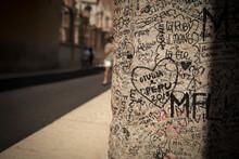 Verona, Italy, Europe, August 2019, Graffiti At The House Of Romeo