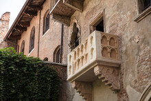 Verona, Italy, Europe, August 2019, Juliets Balcony From Romeo And Juliet