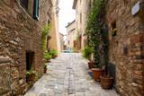 Fototapeta Uliczki - STREETS OF A SMALL ITALIAN TOWN, tuscany