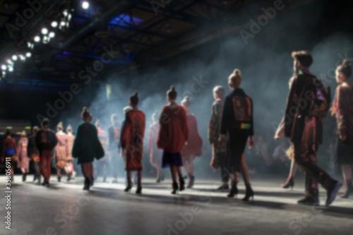 Fashion Show, Catwalk Runway Event, Fashion Week themed photograph Fotobehang