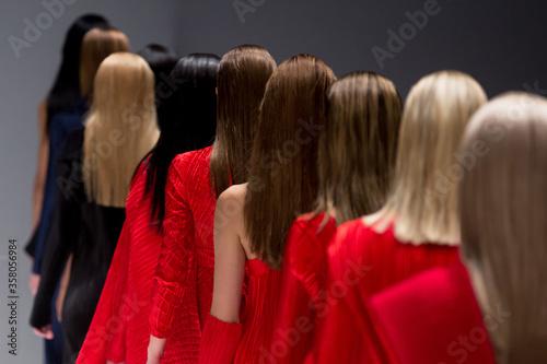 Fashion Show, Catwalk Runway Event, Fashion Week themed photograph Fototapeta