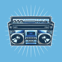 Old Radio Compo Vector Illustr...
