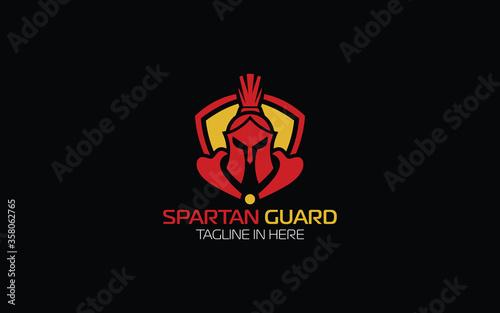 Spartan logo forming  shield symbol Fototapeta