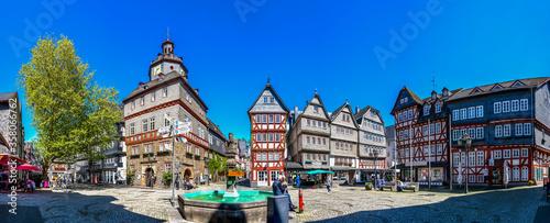 Leinwand Poster Rathaus, Markt, Herborn, Deutschland
