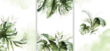 Watercolor Tropical Floral Tem...