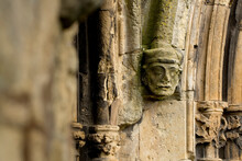 Stone Carving On The Exterior Of Bridlington Priory, Bridlington, East Riding Of West Yorkshire, UK - March 2014