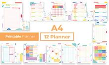 Minimalist Colorfull Planner P...