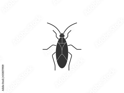 Animal, bug, insect icon. Vector illustration, flat design. Принти на полотні