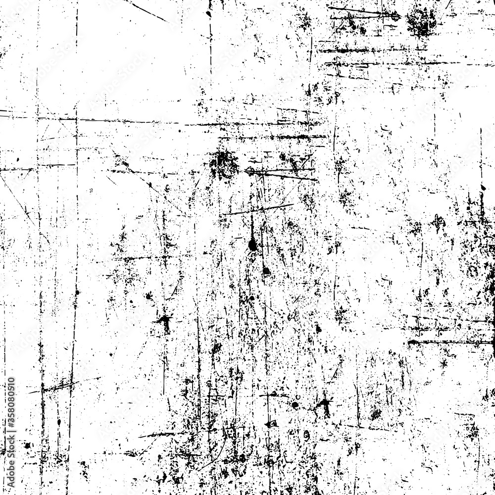 Fototapeta Grunge black and white. Monochrome texture of the old surface. Pattern of chips, scratches, cracks, dirt, wear. Vintage old surface