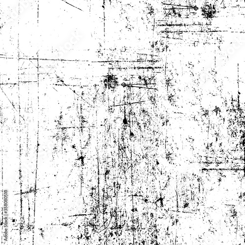Fototapeta Grunge black and white. Monochrome texture of the old surface. Pattern of chips, scratches, cracks, dirt, wear. Vintage old surface obraz