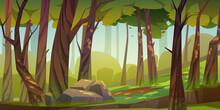 Cartoon Forest Background, Nat...