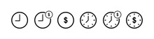 Time Is Money Icon. Business A...