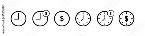 Cuadros en Lienzo Time is money icon
