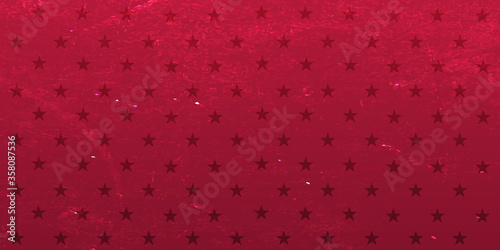 Obraz Red background with stars. Vector grange illustration. - fototapety do salonu
