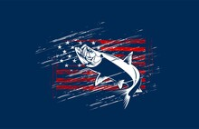 Tarpon Fishing On Usa Flag Vec...