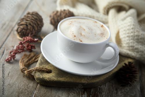 Fototapeta Homemade spiced latte obraz
