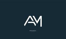 Alphabet Letter Icon Logo AM