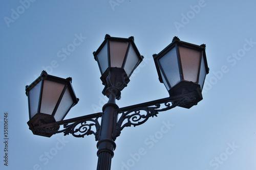 Fototapeta Zabytkowa latarnia uliczna obraz na płótnie