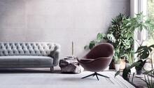 Modern Living Room Interior De...