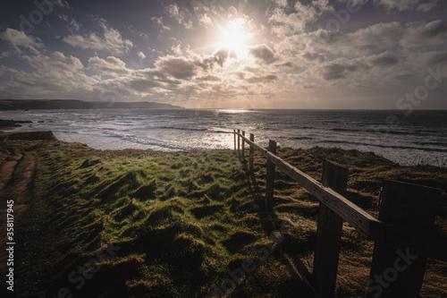 Cuadros en Lienzo Widemouth Bay, Cornwall, England