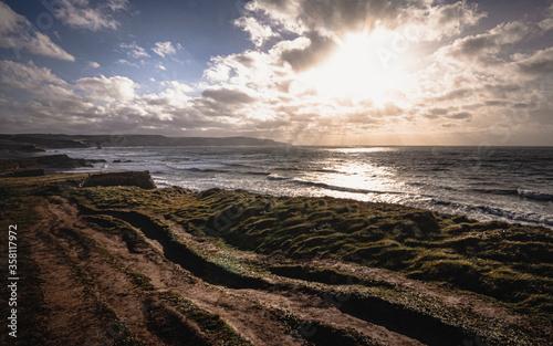 Canvas Print Widemouth Bay, Cornwall, England